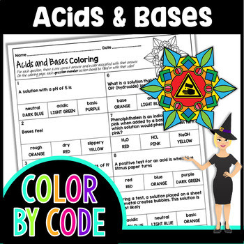 Acids and Bases Color By Number