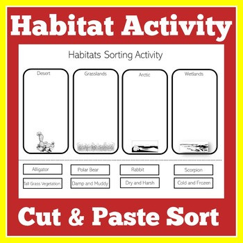Animals and their Habitat Worksheets