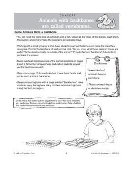 Animals With Backbones Worksheets & Teaching Resources