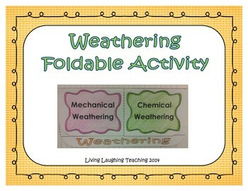 Chemical and Mechanical Weathering Worksheet
