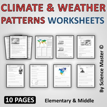 Climate and Weather Worksheet