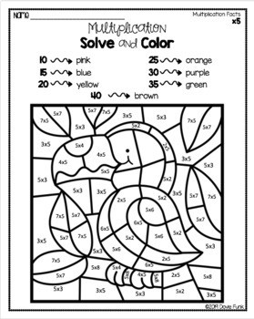 Color by Math Worksheet