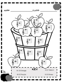 Color by Note Worksheets