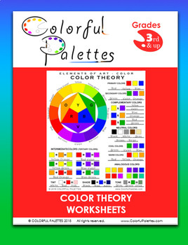 Color Theory Worksheets Elements of Art Color