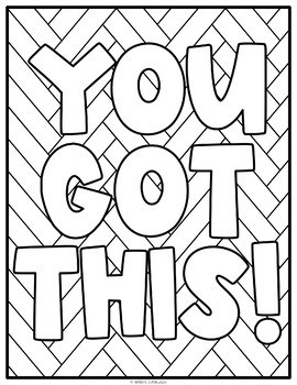 Motivational Positive Quote Coloring Pages