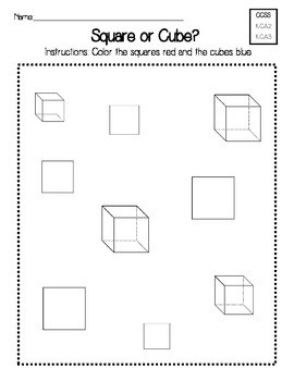 Square or Cube Worksheet