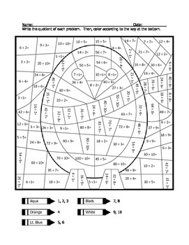 Division Coloring Sheets Worksheets & Teaching Resources