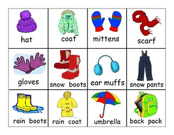 Dressing for the Weather Worksheet