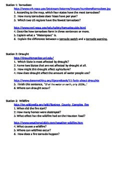 Extreme Weather Worksheet Answers