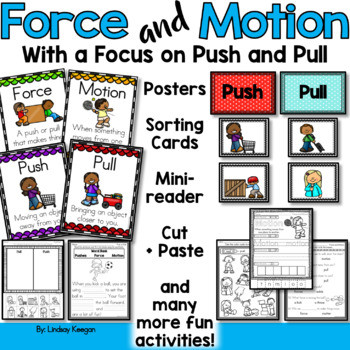 Force and Motion Worksheets Push and Pull