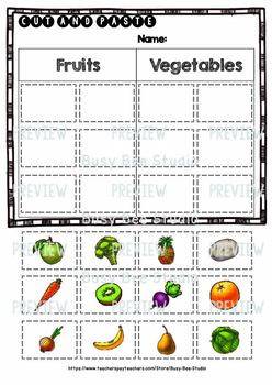 Fruits and Ve ables Sorts Category Sort