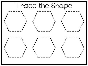 5 All About the Shape Hexagon No Prep Tracing Worksheets and Activities Prescho