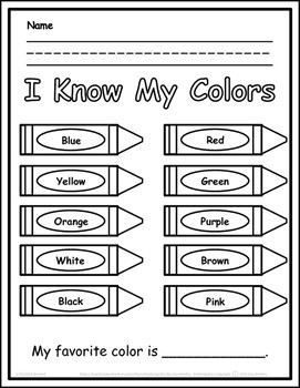Learning My Colors I KNOW MY COLORS