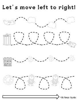 Left To Right Tracing Worksheets Fine Motor Skills