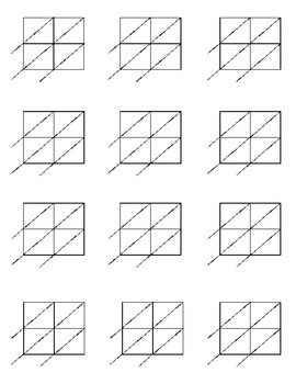 Lattice Multiplication Blank forms for 2x2 and 2x3 multiplication
