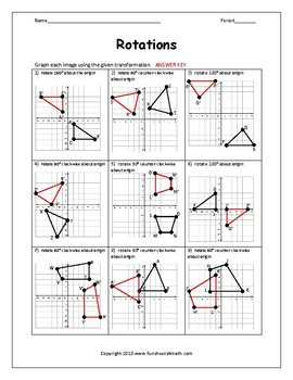 Multiple Transformations Worksheet Answers