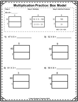 Multiplication by 1 Worksheets