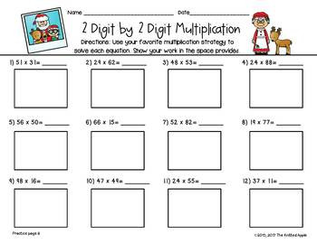 Multiplication Partial Products Worksheets