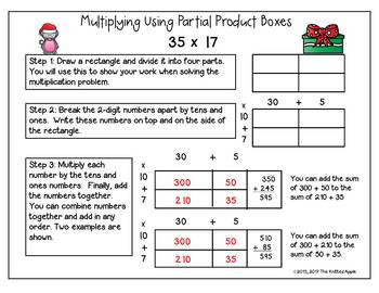 Multiply Using Partial Products Worksheets