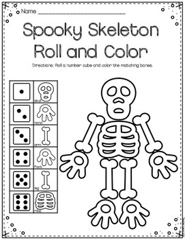 Roll and Color Worksheets