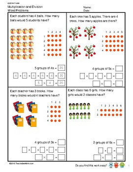 G2S1W11 MW Multiplication and Division Word Problems