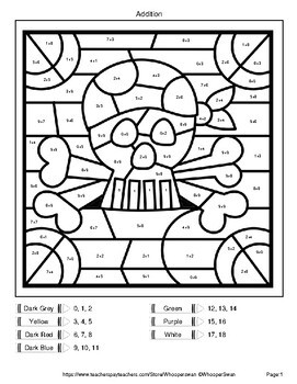 Two Digit Addition Coloring Worksheets