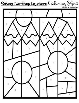 Solving Two Step Equations Coloring Sheet
