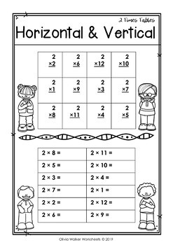 Two Times Tables Worksheet