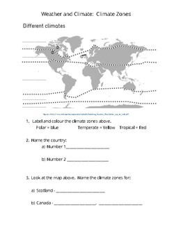 Weather and Climate Worksheet