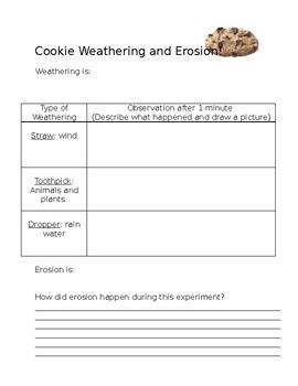 Weather and Erosion Worksheets