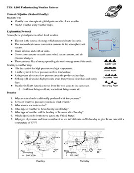 Weather Patterns Worksheet Answers