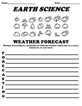 What is Weather Worksheet