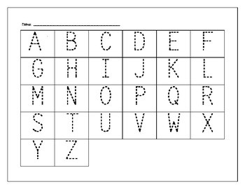 Abc Tracer Worksheets & Teaching Resources