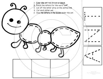 Alphabet Cut and Paste Worksheets