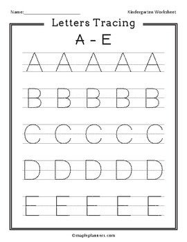Letter Tracing A Z Worksheets & Teaching Resources