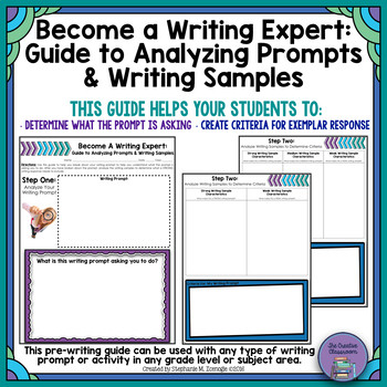 Analyzing A Writing Prompt Worksheet