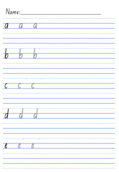 Handwriting Pack Year 1 lines letters NSW ACT SA Tas style