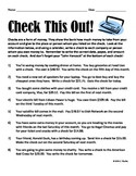 Check Writing Worksheets for Students