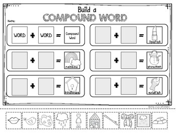 pound Words Activities for Kindergarten and First Grade