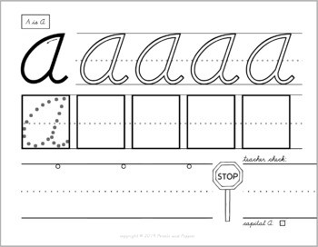FREE D Nealian Handwriting Practice Worksheets Letter A