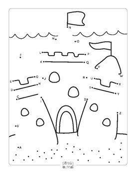 Summer Connect the Dots Dot to Dot Alphabet Worksheets