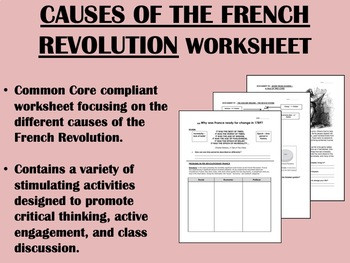 French Revolution Worksheets and Activities