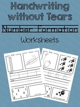 Handwriting without Tears Numbers Worksheet