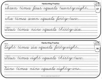 Handwriting Worksheets for 5th Grade