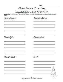 Handwriting Worksheets for First Grade