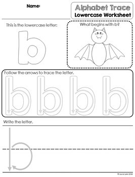Lowercase Alphabet Tracing Worksheets