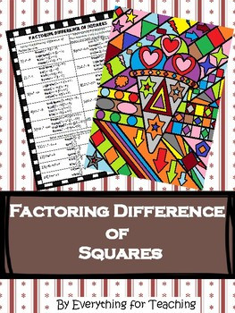 Multiplying Polynomials Worksheet Coloring Activity