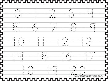 Numbers 1 100 Tracing Worksheets