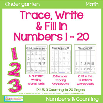 Number Writing Worksheets 1 20