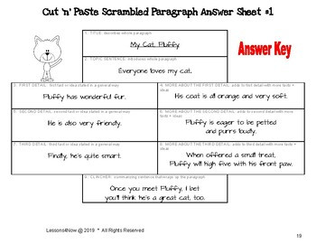 Paragraph Writing Practice Worksheets